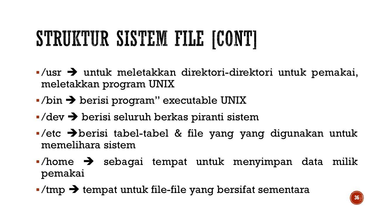 Struktur Sistem File [cont]